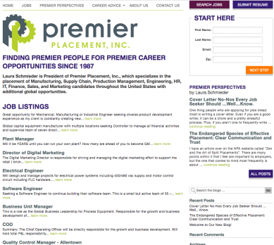 premierplacement homepage